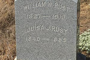 Tombstone of William and Louisa Rust