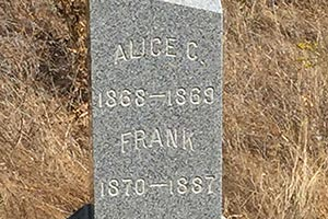 Tombstone of Alice C. and Frank Rust