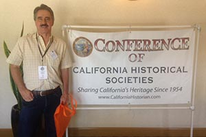 Past CRHS President Jim Vindler at Conference of CA Historical Societies June 23-25, 2016 in Claremont.