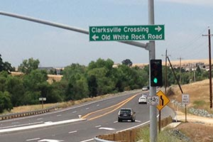 The new Clarksville Crossing sign